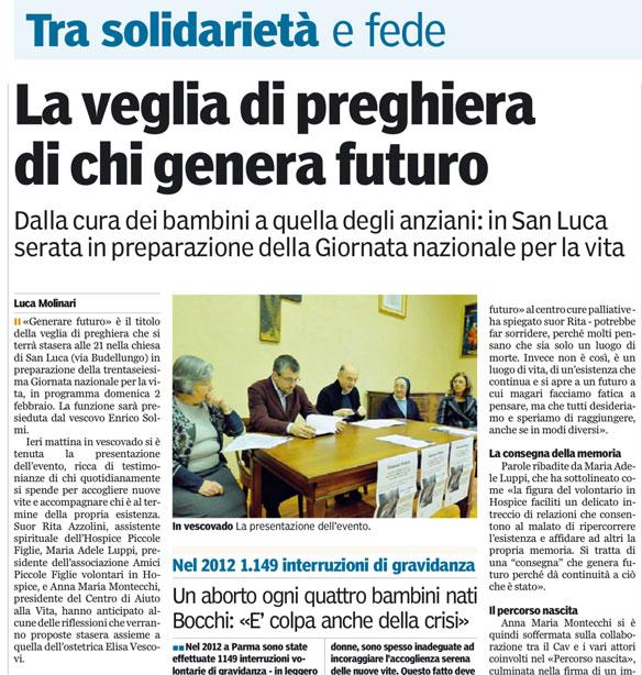 Gazzetta di Parma 24/01/2014