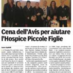 Gazzetta - Cena Avis - venerdì 14 novembre 2014
